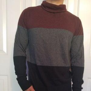 Burgundy black and Grey sweater